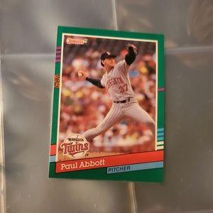 Paul Abbott variation B baseball card